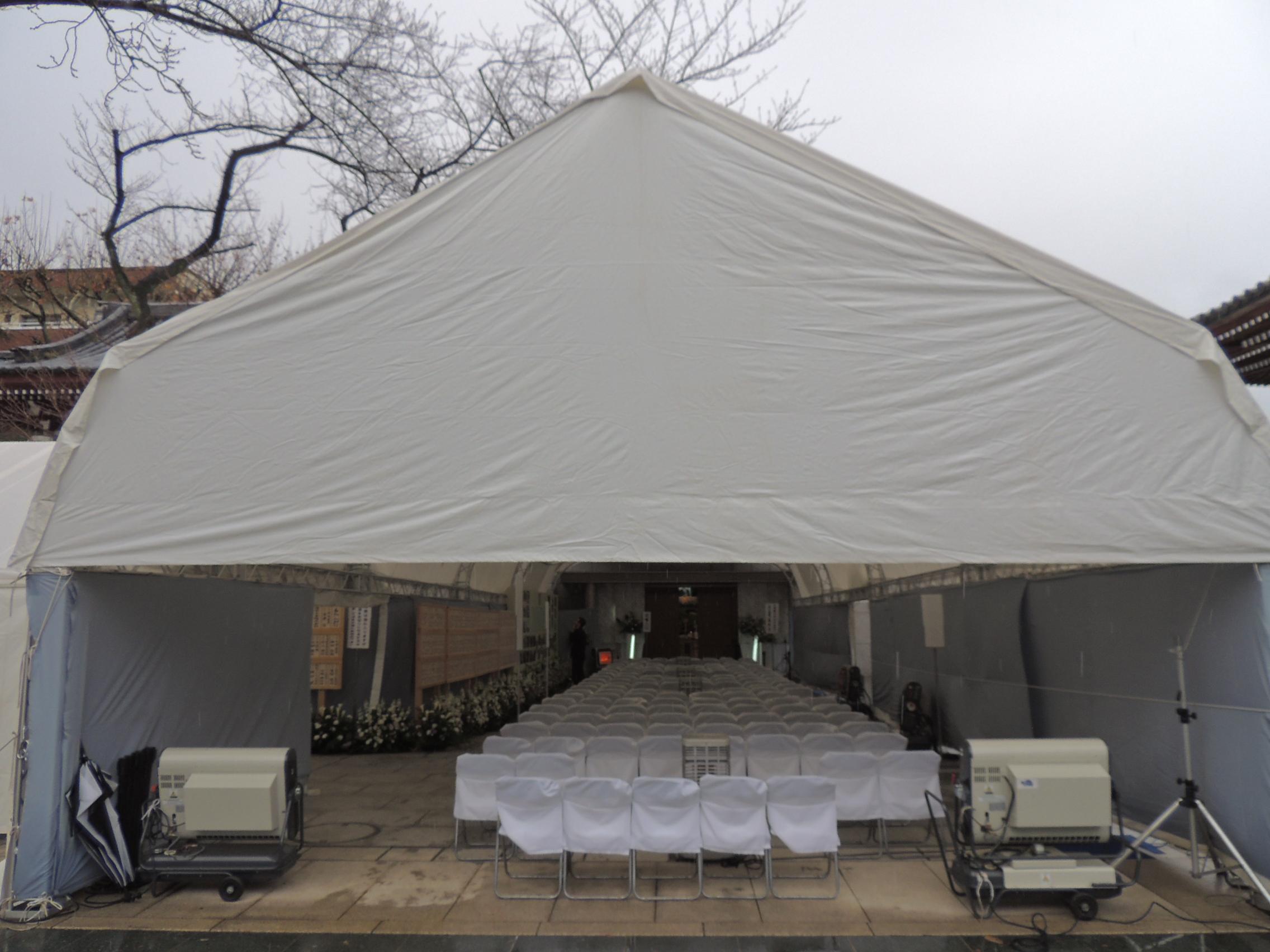 テント施工事例