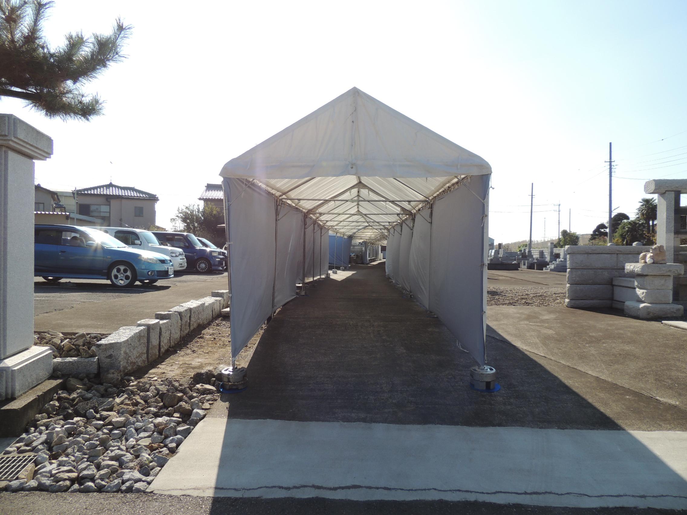 テント施工事例2